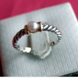 David Yurman Cable Classics Pearl Ring